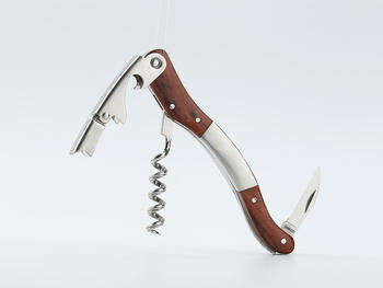 Wine corkscrew with wood handle CO1706B