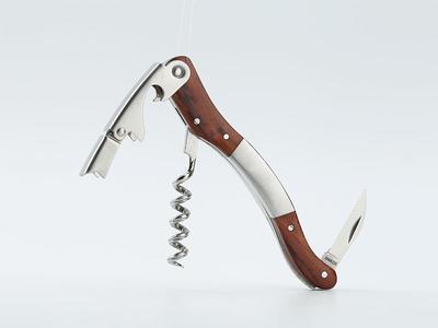 Wine corkscrew with wood handle CO1706B