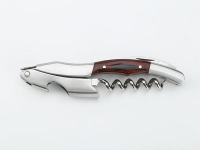 Wine corkscrew with wood handle CO1736
