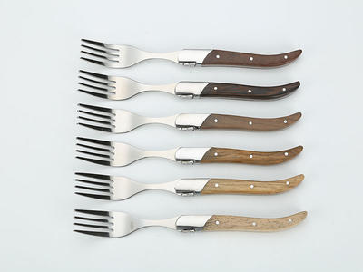 Steak fork with rosewood handle CH086